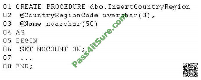 pass4itsure 70-461 exam question q12