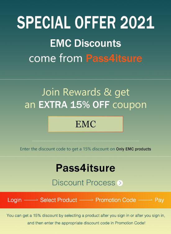 Pass4itsure EMC DEA-64T1 exam dumps discount code